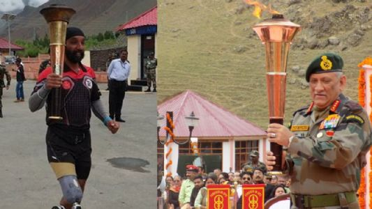 VICTORY FLAME TRAVELS 1000 KM TO HONOUR HEROES OF KARGIL